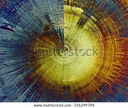 Abstract old background or faded grunge texture. With different color patterns: yellow (beige); brown; blue; cyan - stock photo