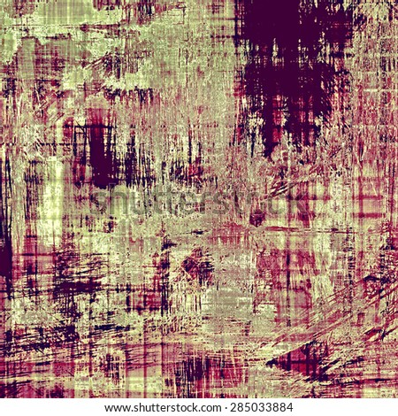 Abstract old background with rough grunge texture. With different color patterns: yellow (beige); gray; green; purple (violet) - stock photo