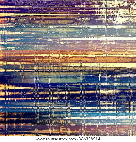 Abstract old background with rough grunge texture. With different color patterns: yellow (beige); brown; purple (violet); blue; white - stock photo