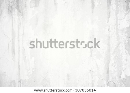 Abstract old grunge cracked white concrete wall background with crack texture and weathered pattern - stock photo