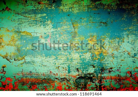 abstract old grunge wall - stock photo