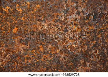 Abstract Old Grungy and Dirty Red rusty metal sheet texture background - stock photo