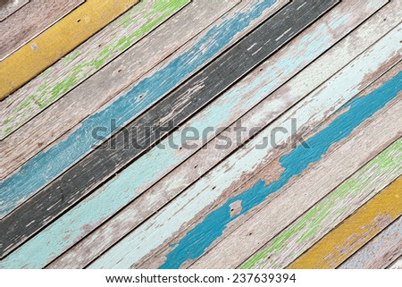 Abstract old wood texture background colorful - stock photo