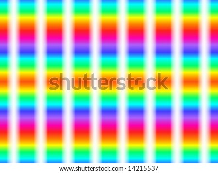Abstract op-art background in retro rainbow colors.