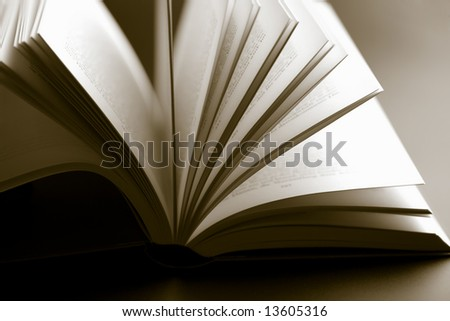 abstract open book - stock photo