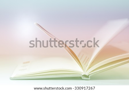 Abstract open book diary blur concept  for background