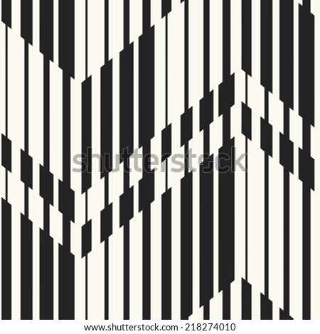 Abstract optical effect chevron motif striped background. Seamless pattern.  - stock photo