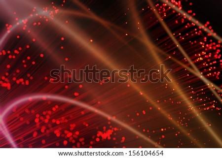 Abstract optical fiber lighting  - stock photo