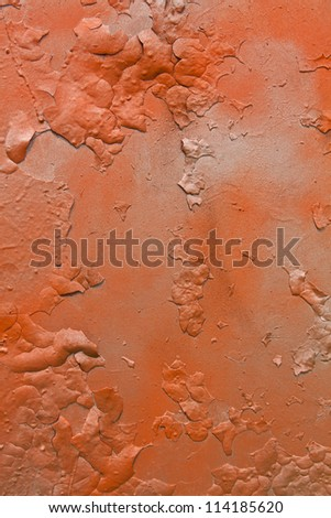 Abstract orange and gray old metal graffitti background - stock photo