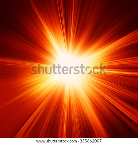 abstract orange and red sunshine or flash background