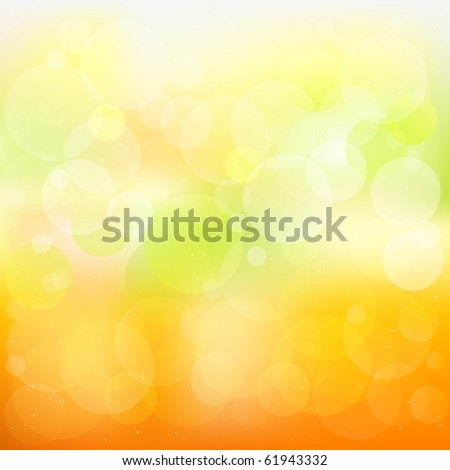 Abstract Orange And Yellow Background With Stars - stock photo