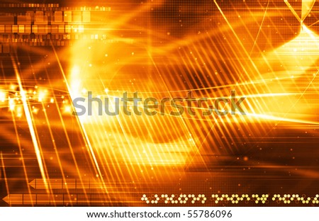Abstract Orange Background - stock photo