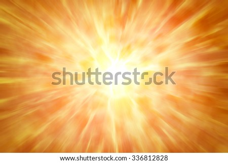 abstract orange background. bokeh abstract light background. Summer background with a magnificent sun burst with lens flare. Hot with space for your message - stock photo