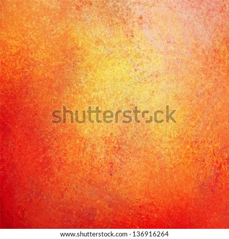 abstract orange background gold red yellow warm autumn background color tone vintage grunge background texture painted wall with hot fiery center website app design sidebar banner poster or brochure
