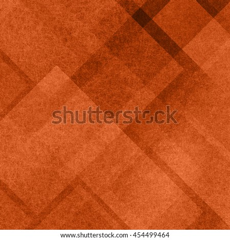 abstract orange background pattern and blocks in diagonal lines with vintage texture