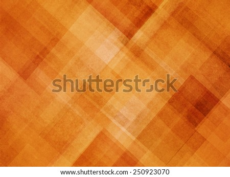abstract orange background pattern of diagonal shapes layered in angles diamonds rectangles squares and lines, abstract graphic art design pattern - stock photo