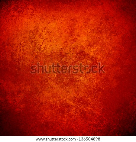 Abstract Orange Background Red Gold Warm Colors Black Corners Vintage  Grunge Background Texture Rough Distressed Sponge