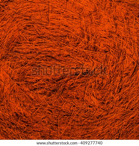abstract orange background texture of dry straw - stock photo