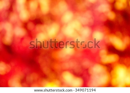Abstract orange bokeh background.
