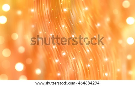 abstract orange bokeh circles. Beautiful background with particles.