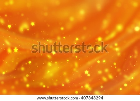 Abstract orange elegant background with glitter and waves - stock photo