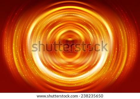 Abstract orange lines background lighting - stock photo