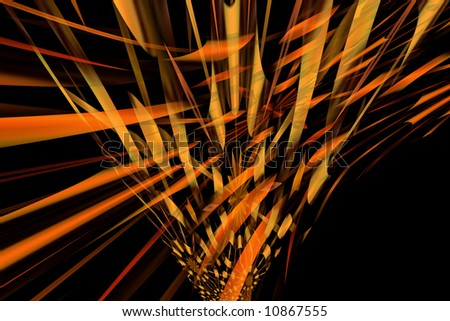 Abstract orange perspective background with black color