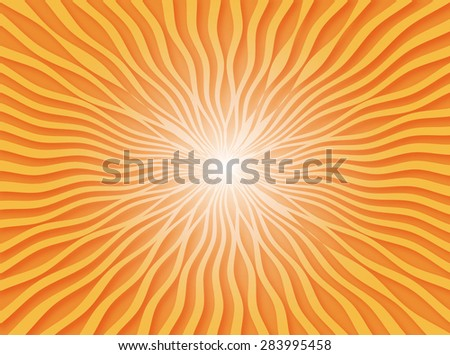 Abstract orange radial and rays lighting background