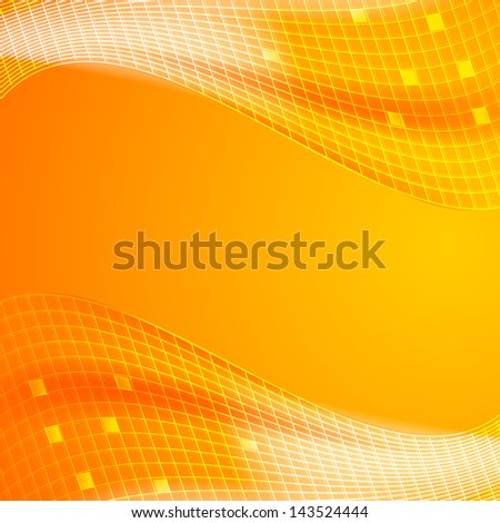 Abstract orange tiles background.  illustration - stock photo