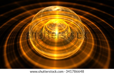 Abstract orb. Fractal digital artwork, illustration - stock photo