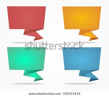 Abstract origami speech bubble Collection