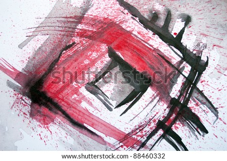 Abstract original watercolor background - stock photo