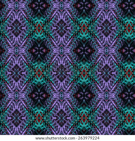 Abstract ornamental background, Seamless kaleidoscope pattern, tile design. - stock photo