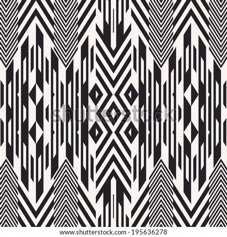 Abstract ornate geometric textured background. Seamless pattern. - stock photo