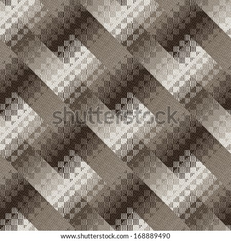 Abstract ornate geometric textured seamless pattern. - stock photo