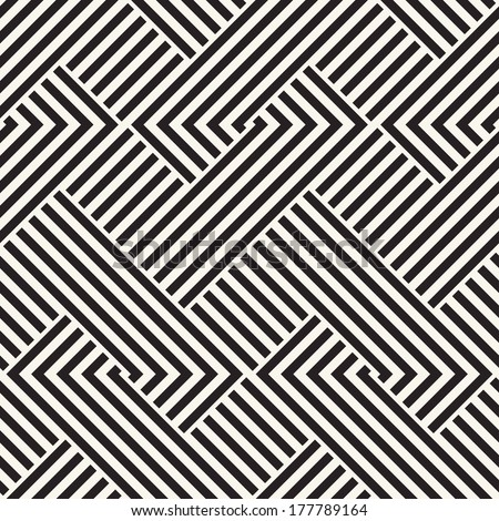Abstract ornate interlaced striped texture. Seamless pattern.