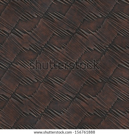 Abstract ornate old rusty knurling mesh panel. Seamless pattern.