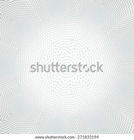 Abstract ornate radial pattern made of white surface - stock photo