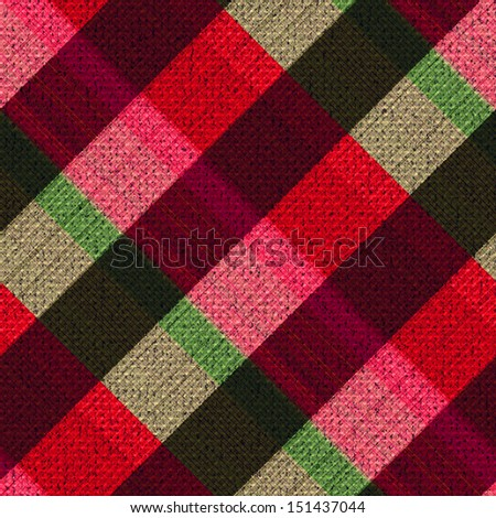 Abstract ornate textured checkered plaid background. Seamless pattern. - stock photo