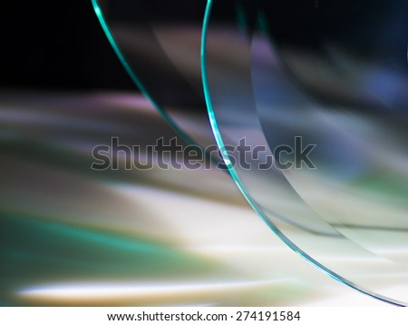 Abstract out of focus glass reflections in a frame - stock photo