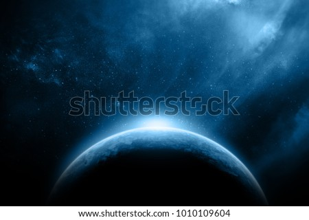 Abstract outer earth space nebula fantasy