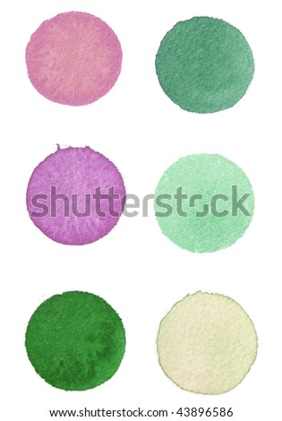 abstract paint background circles - stock photo