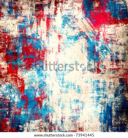 Abstract paint blots background - stock photo