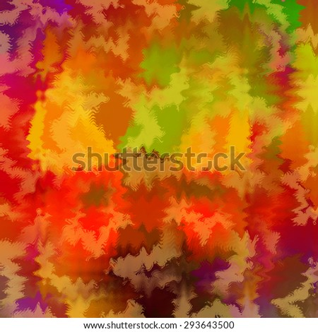 Abstract paint stains, living colors background - stock photo