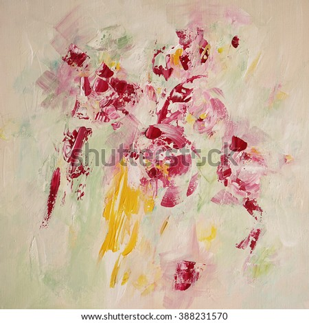 abstract painted background, light colors - stock photo