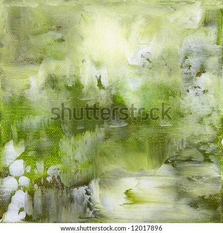 Abstract painted background with different shades of green Artwork is created and painted by myself - stock photo