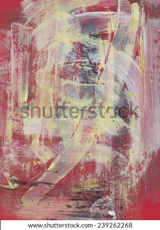 Abstract painted background with grunge texture with expressive brush strokes - stock photo
