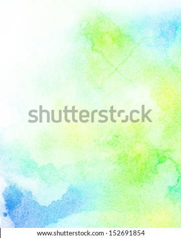 Abstract painted colorful watercolor background - stock photo