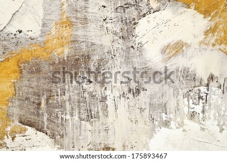 abstract painted grunge wall background with plaster stains and strokes
