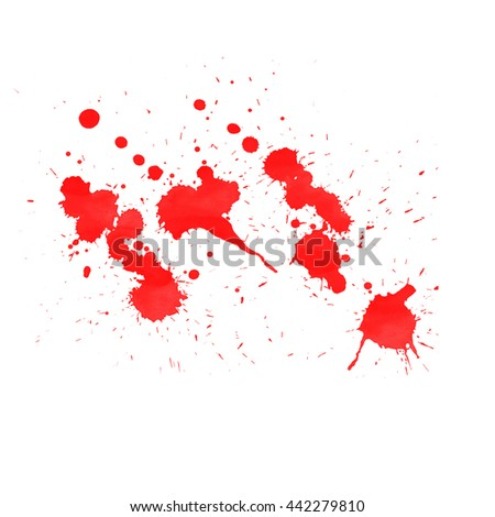 Abstract painted ink and watercolor,color splatter for use in brushes or background for abstract creative work in many kind of pattern isolated on white background